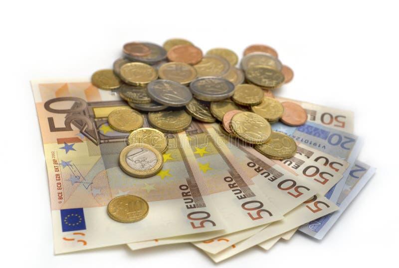 Het geld van de EU stock afbeeldingen