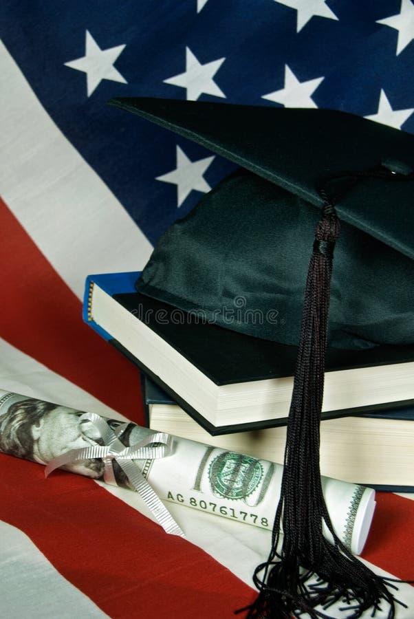 Het Geld van de graduatie stock afbeelding