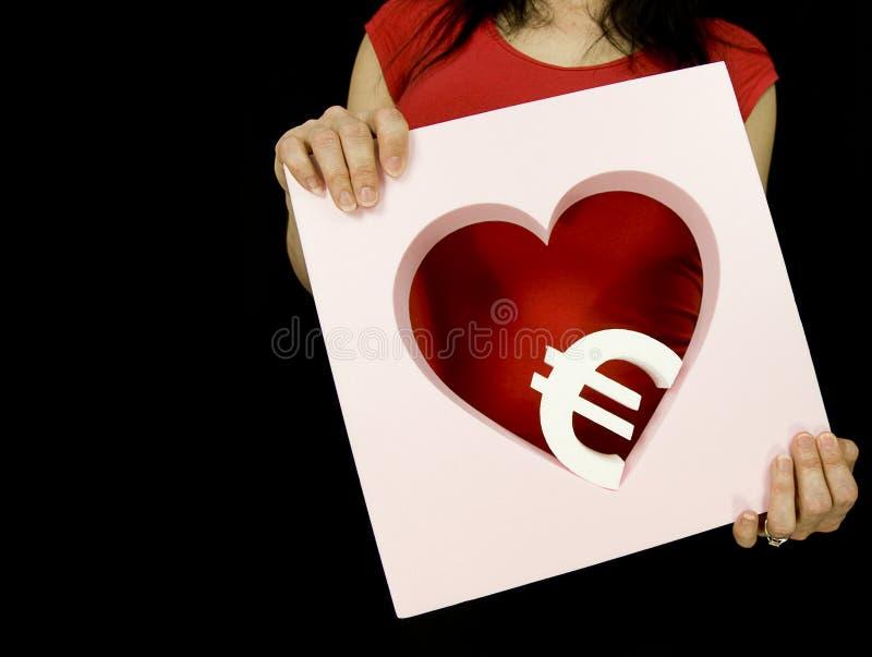 Het geld van de liefde stock foto