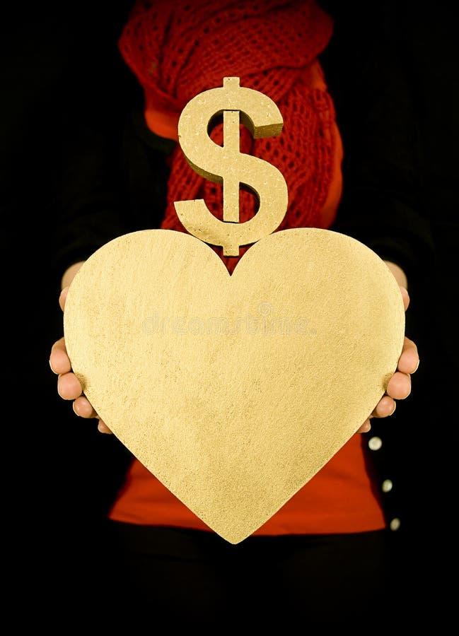 Het geld van de liefde royalty-vrije stock afbeeldingen