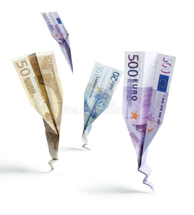 Het geld van de neerstorting royalty-vrije stock foto's