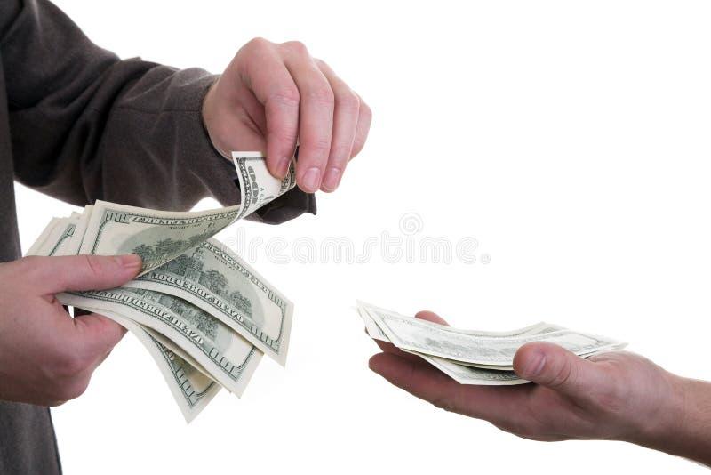 Het geld van de telling royalty-vrije stock fotografie