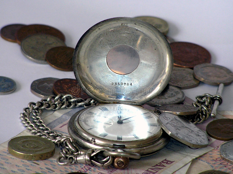 Het Geld van de tijd stock afbeeldingen