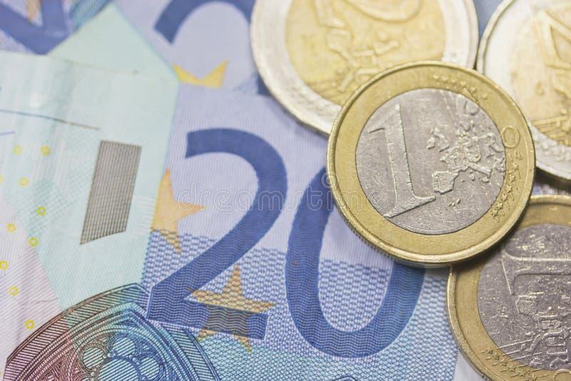 Het geld van euro stock afbeeldingen