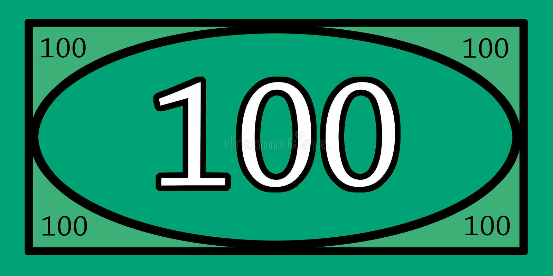 Het Geld van het 100 Dollarspel royalty-vrije stock foto's