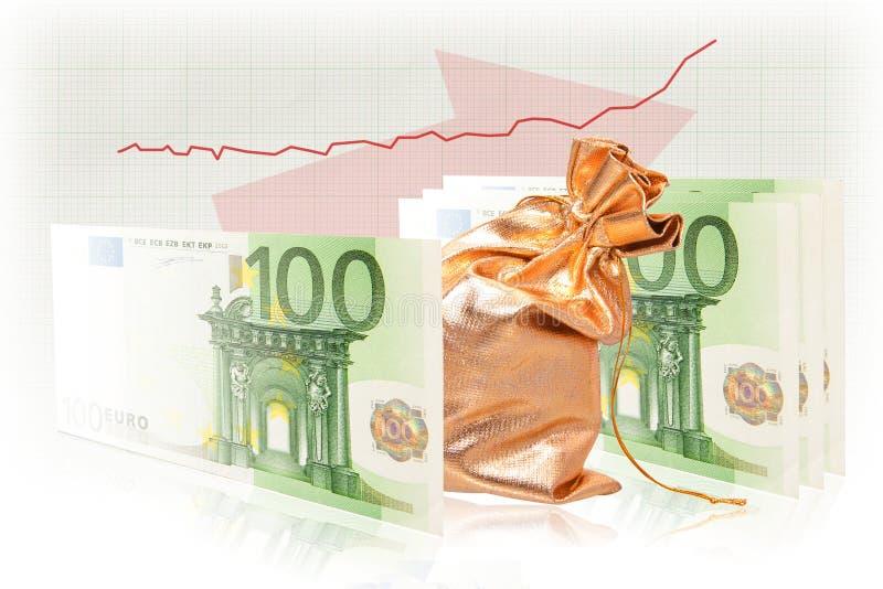 Het geld van het geldgoederen van de bedrijfssuccesformule stock afbeeldingen