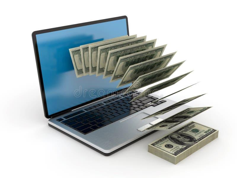 Het geld van Internet royalty-vrije illustratie