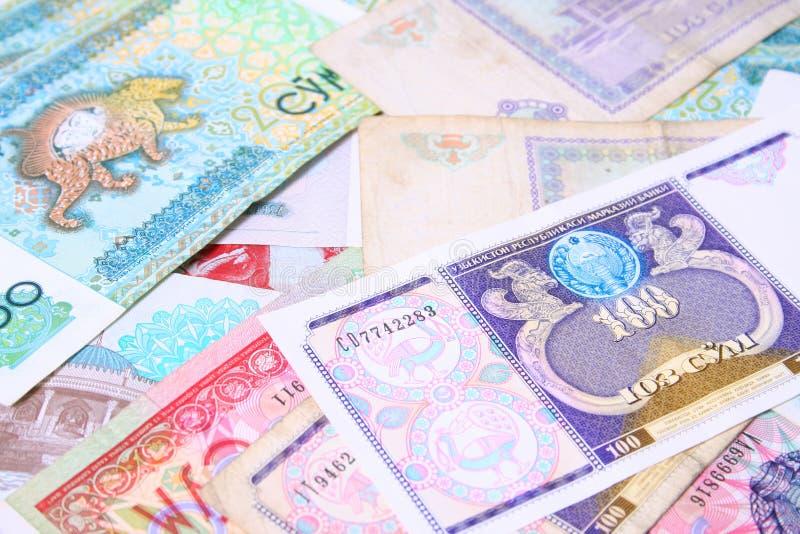 Het Geld van Oezbekistan royalty-vrije stock afbeeldingen