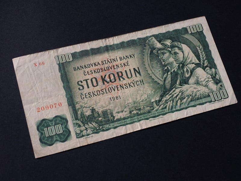 Het geld van Tsjecho-Slowakije royalty-vrije stock fotografie