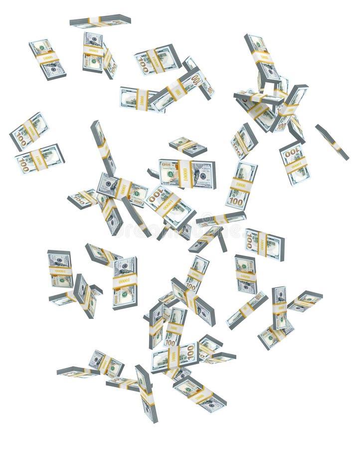 Het geld vliegt in de lucht. royalty-vrije illustratie