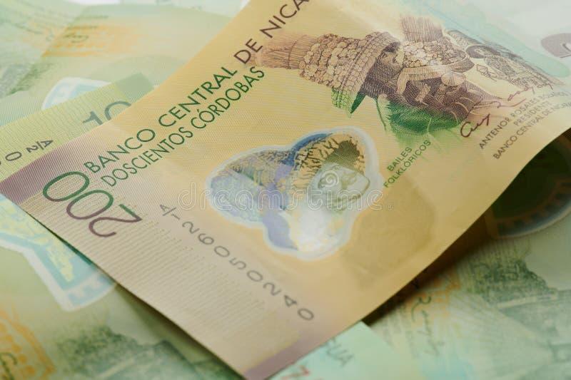 Het geldbankbiljet van Nicaragua stock fotografie