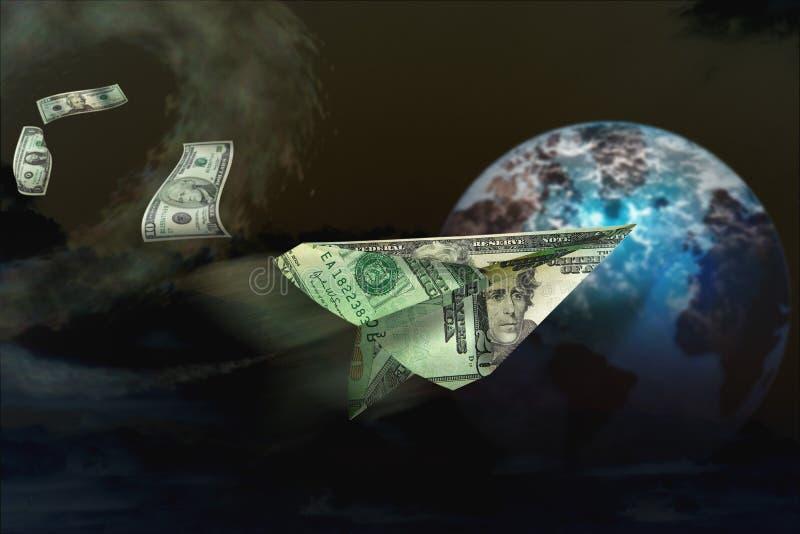 Het geldfinanciën van de marketing stock illustratie