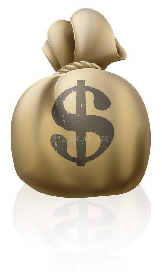Het geldzak van de dollar vector illustratie