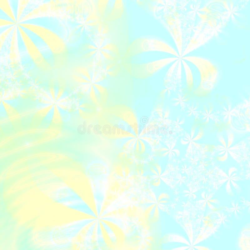 Het gele en Blauwe Abstracte Malplaatje of het behang Achtergrond van het Ontwerp royalty-vrije illustratie