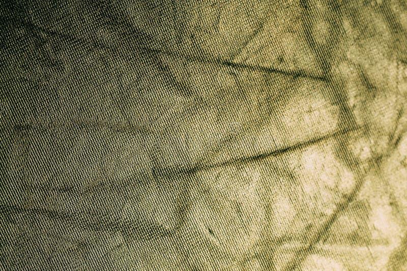 Het gele goud minted uitstekende glanzende stoffentextuur, abstracte achtergrond stock foto