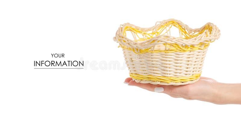 Download Het Gele In Hand Patroon Van De Stromand Stock Foto - Afbeelding bestaande uit mand, brood: 114228278