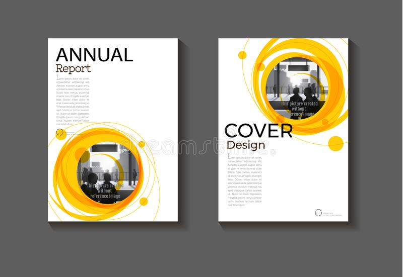 Het gele moderne boe-geroep lay-out abstracte van het achtergrond moderne dekkingsontwerp vector illustratie
