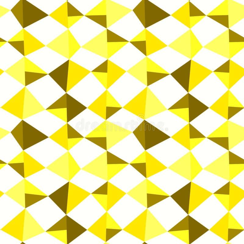 Het gele Naadloze Patroon van Driehoeksstenen royalty-vrije illustratie