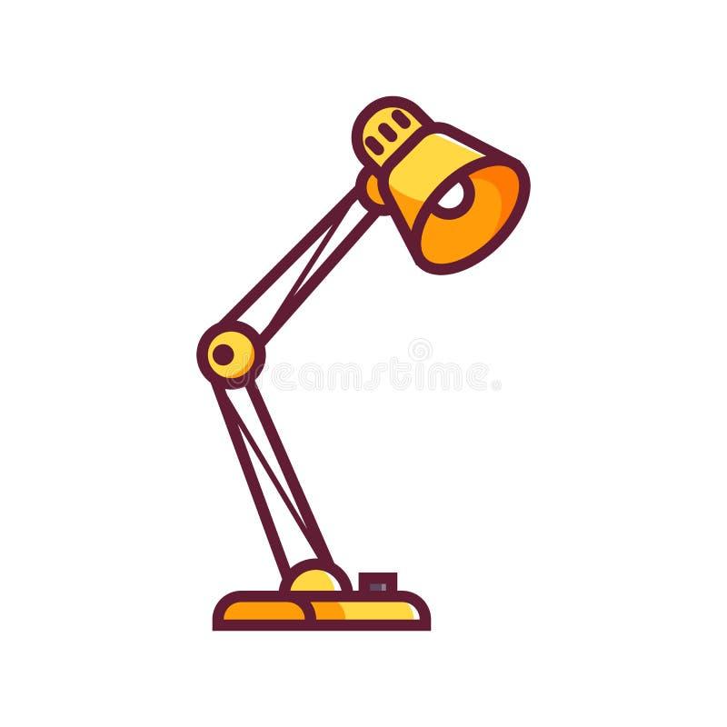 Het gele Pictogram van het Schemerlamp Vlakke Ontwerp stock illustratie