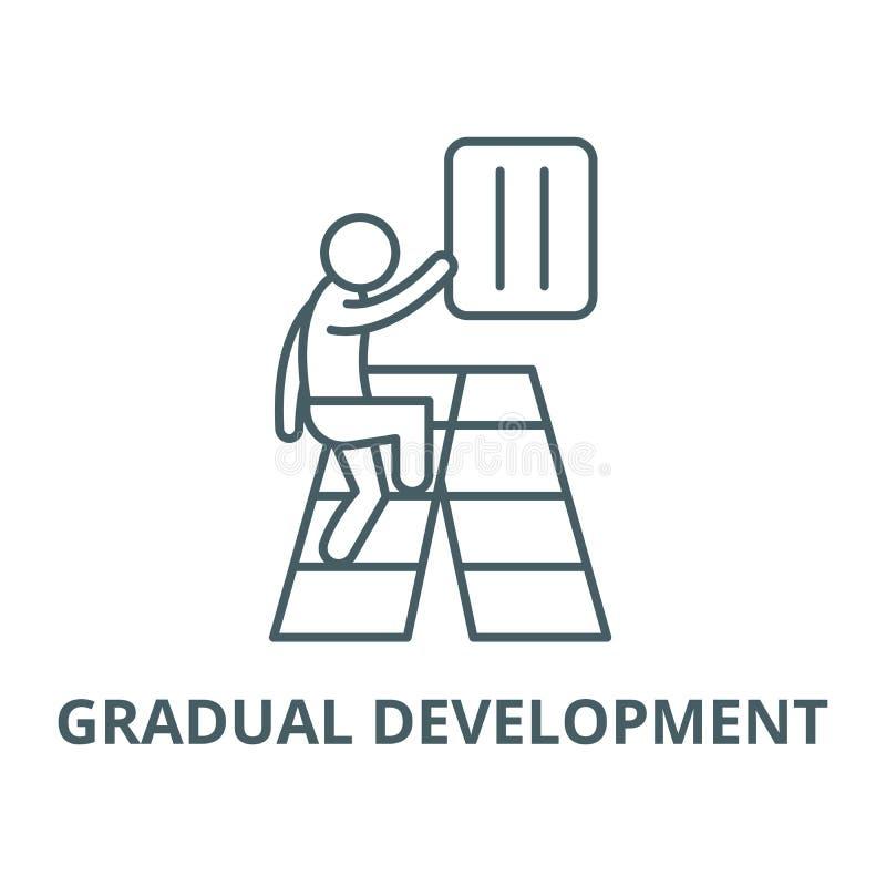 Het geleidelijke pictogram van de ontwikkelings vectorlijn, lineair concept, overzichtsteken, symbool stock illustratie