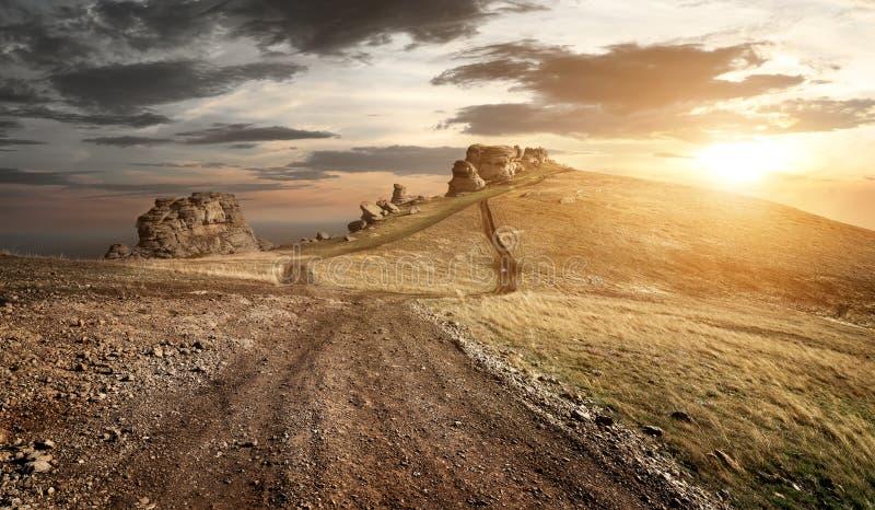 Het gelijk maken in bergen royalty-vrije stock fotografie
