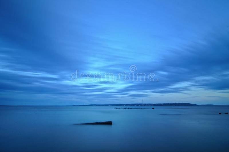 Het gelijk maken op de Volga rivier stock foto