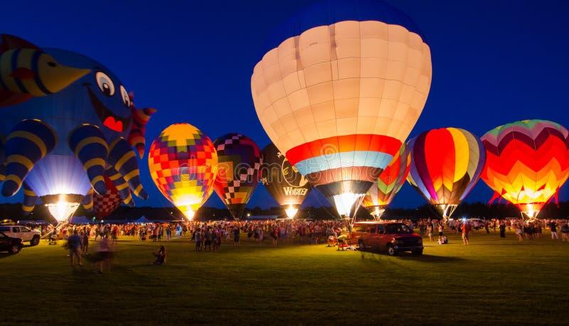 Het gelijk maken van de Ballonfestival van de Gloed Hete Lucht royalty-vrije stock afbeeldingen