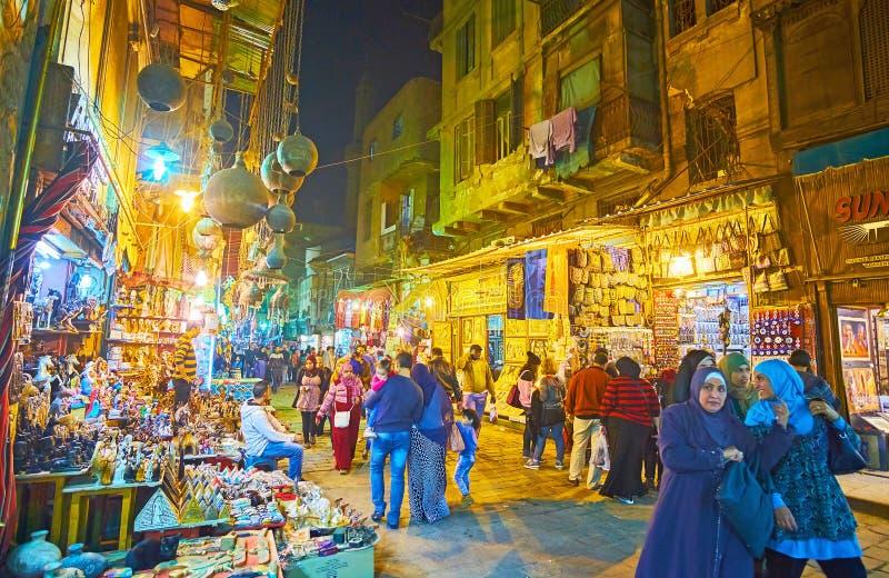 Het gelijk maken van gang in Islamitisch Ka?ro, Egypte stock afbeelding