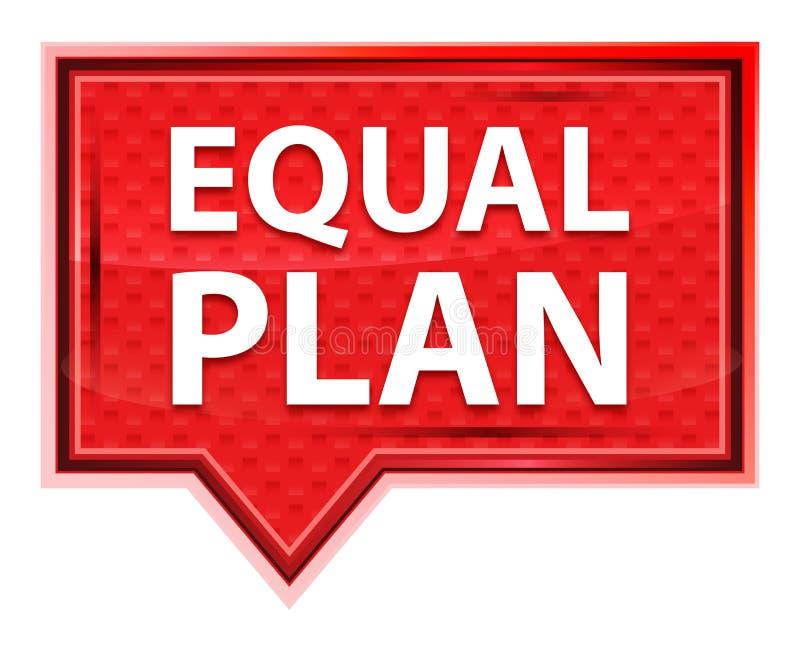 Het gelijke nevelige Plan nam roze bannerknoop toe royalty-vrije illustratie