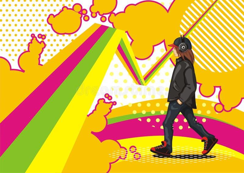 Het geluid van de muziek vector illustratie