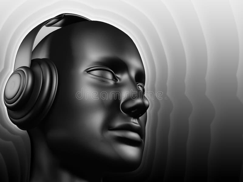 Het geluid van DJ royalty-vrije illustratie
