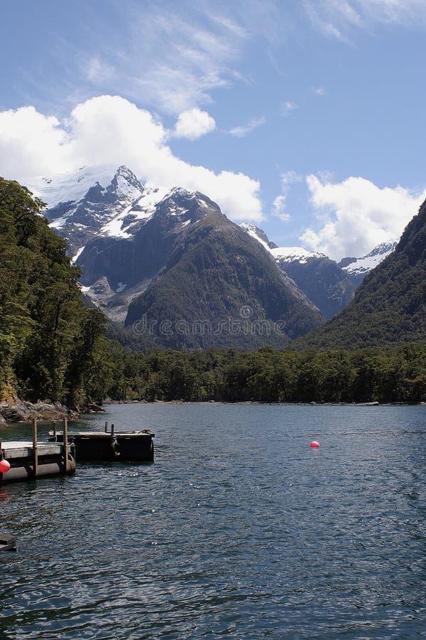Het Geluid van Milford, Nieuw Zeeland stock foto's