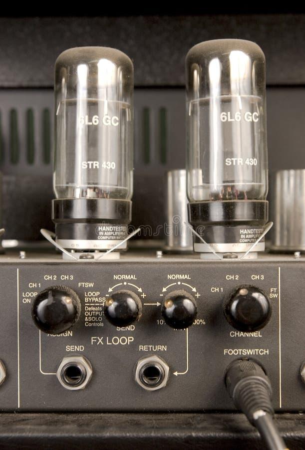 Het geluidssignaalversterker van de lamp stock afbeelding