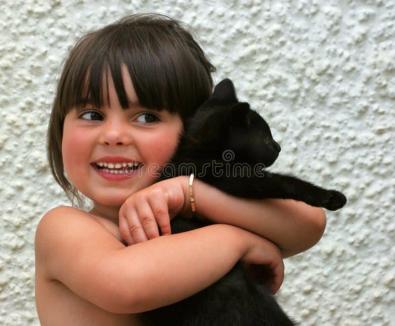 Het geluk is een Nieuw Katje stock foto