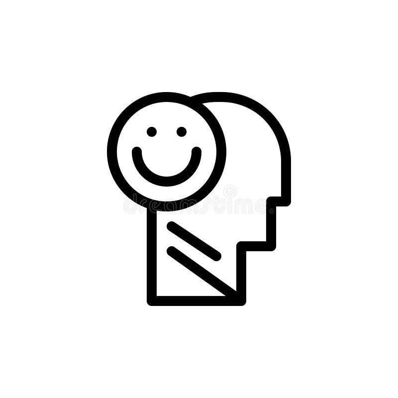 Het geluk, Gelukkig, Menselijk, het Leven, de Optimisme Blauwe en Rode Download en kopen nu de Kaartmalplaatje van Webwidget stock illustratie