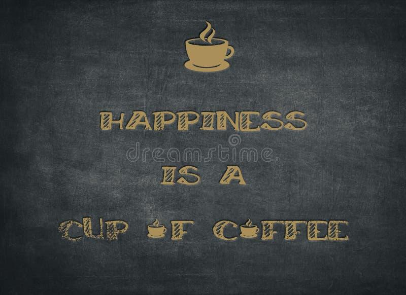 Het geluk is kop van koffie vector illustratie