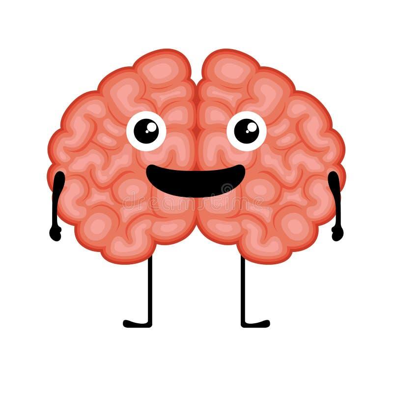 Het gelukkige beeld van het hersenenbeeldverhaal stock illustratie