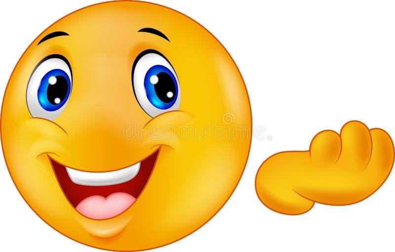 Het gelukkige beeldverhaal van emoticonsmiley vector illustratie