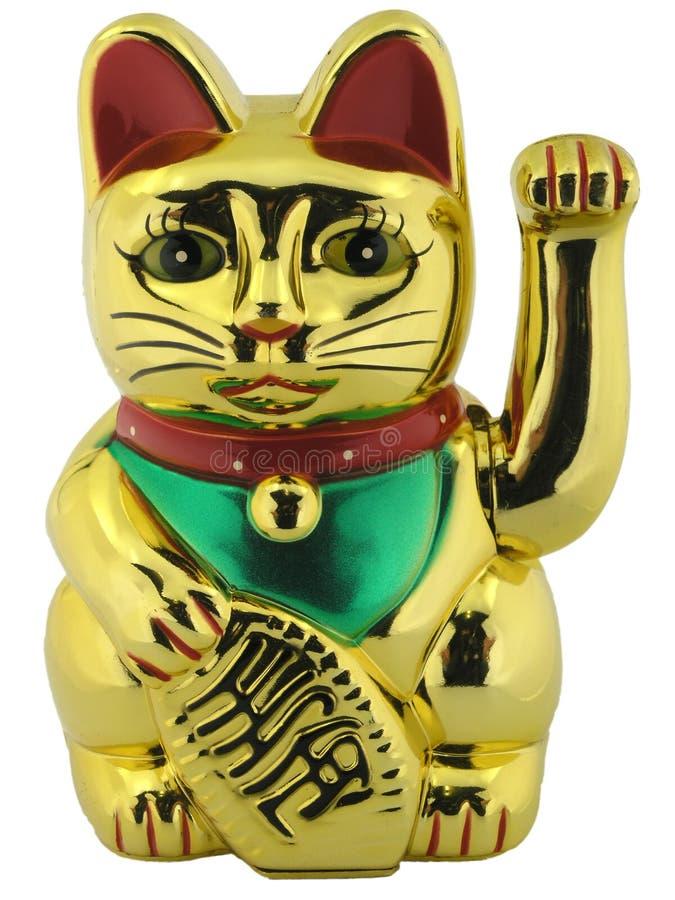 Het gelukkige cijfer van de kat royalty-vrije stock foto