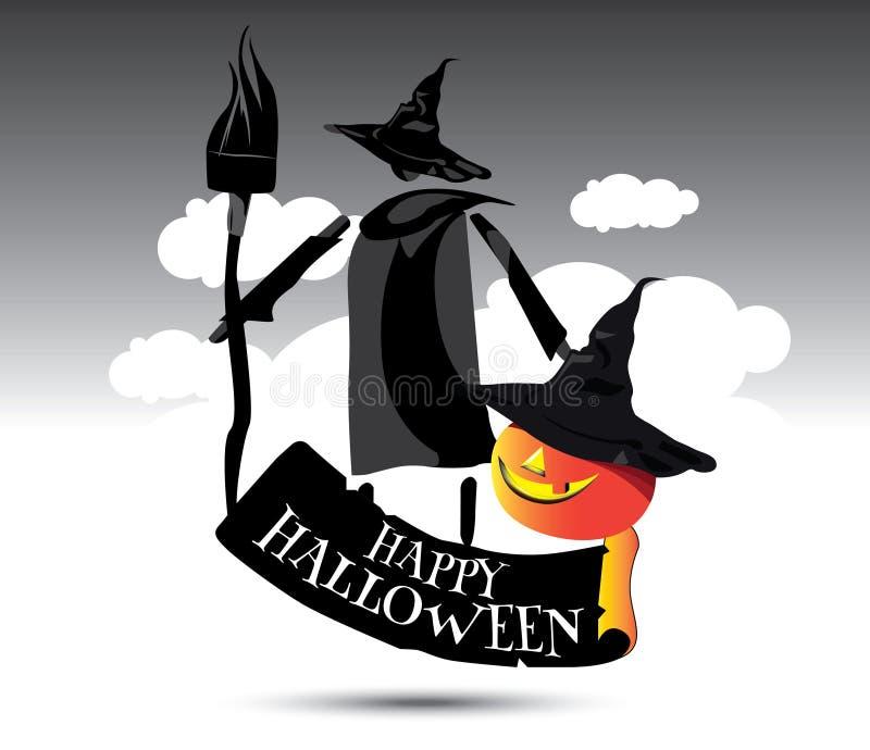 Het gelukkige Conceptontwerp van Halloween vector illustratie