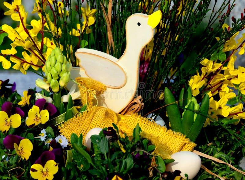 Het gelukkige eendje van Pasen royalty-vrije stock foto's