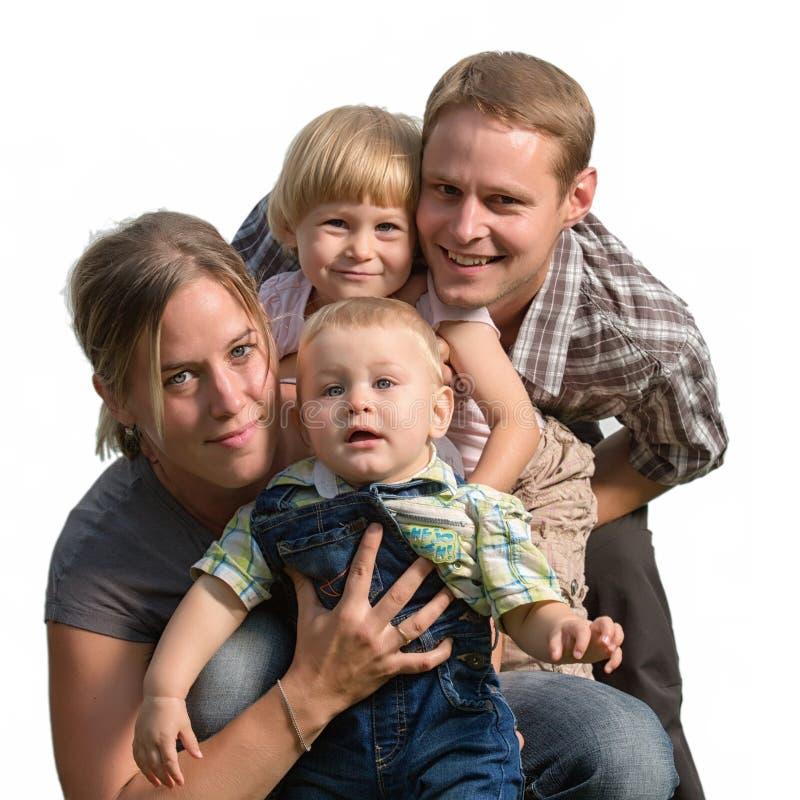Het gelukkige familie glimlachen royalty-vrije stock afbeelding