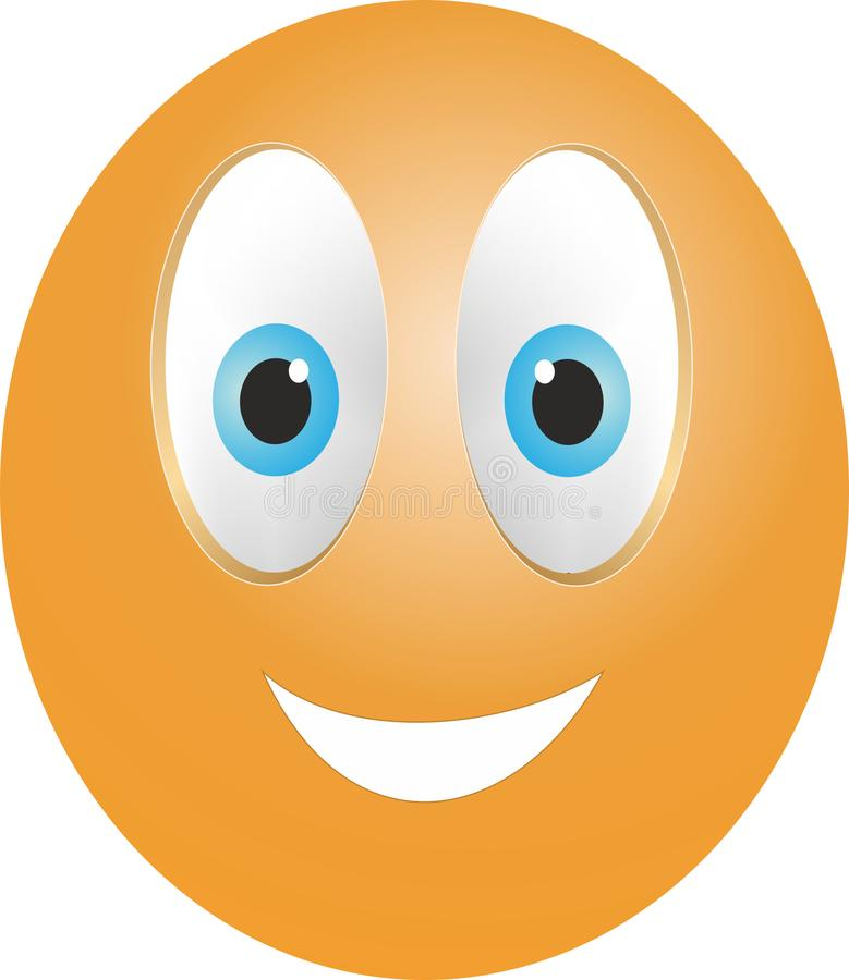 Smiley gelukkig gezicht stock afbeeldingen