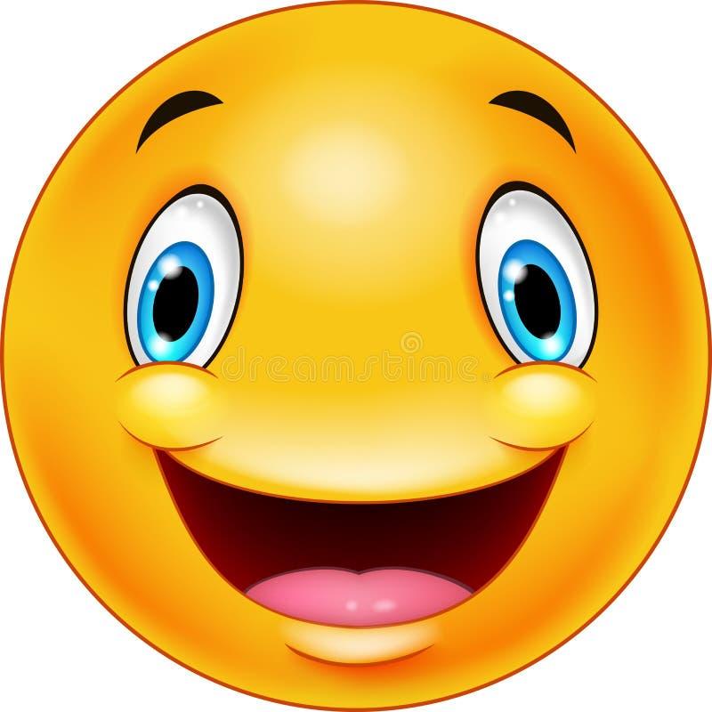 Het gelukkige Gezicht van Smiley Emoticon vector illustratie