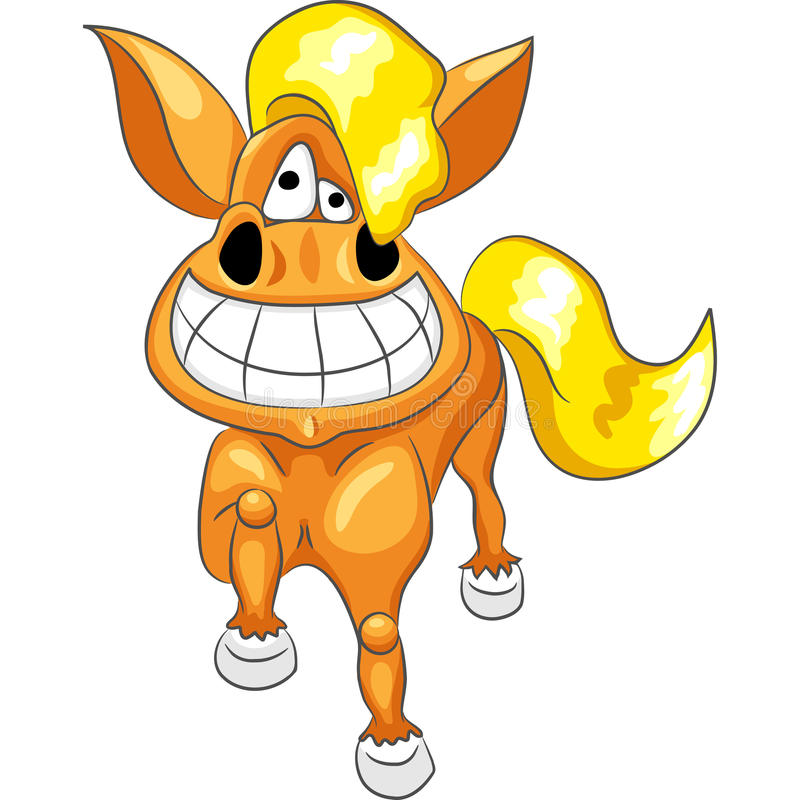 Het gelukkige grappige paard van het beeldverhaal vector illustratie