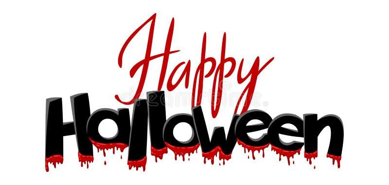 Het gelukkige Halloween-Van letters voorzien royalty-vrije illustratie