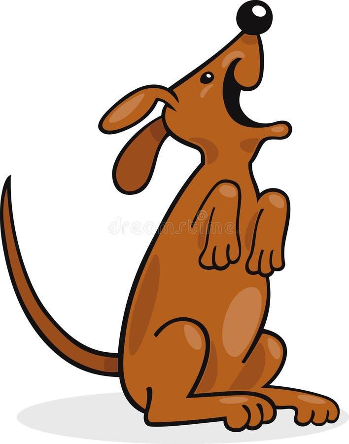Het gelukkige hond ontschorsen vector illustratie