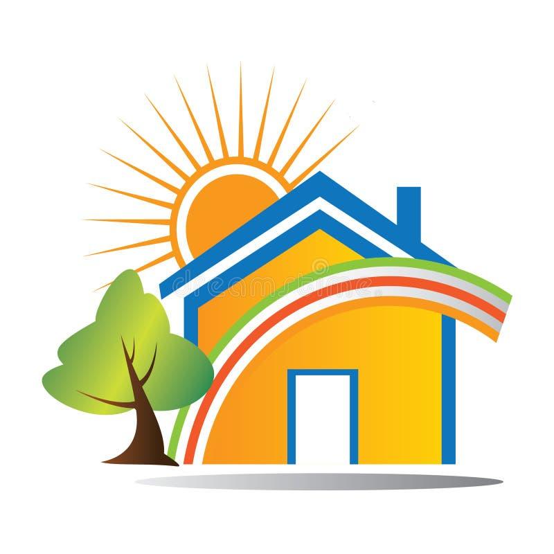Het Gelukkige huis van het embleem vector illustratie