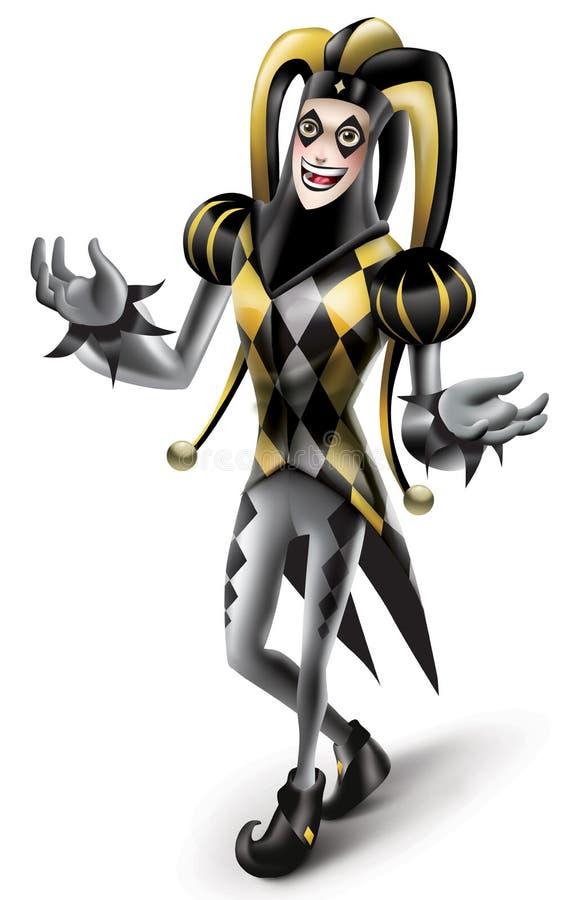 Het gelukkige Joker spelen stock afbeelding