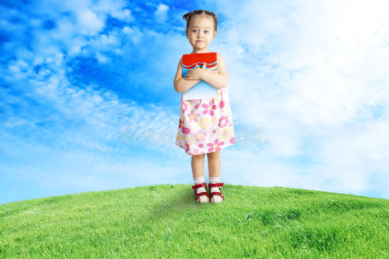 Het gelukkige kind stock afbeelding